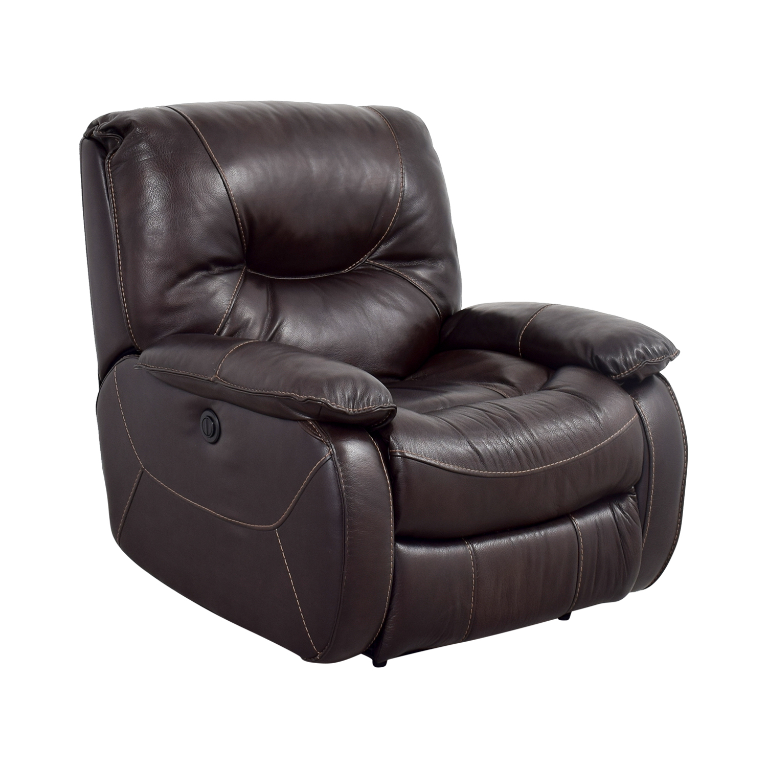 86 Off Dark Brown Leather Motorized Recliner Chairs