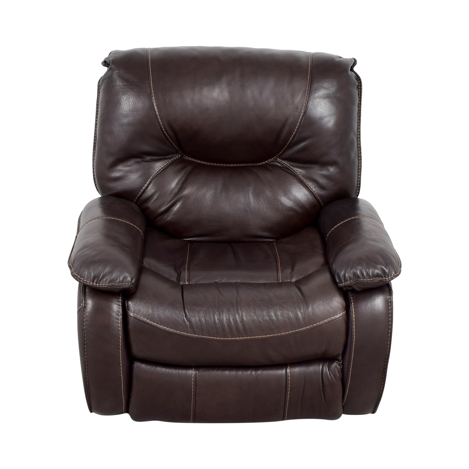 Dark Brown Leather Motorized Recliner nyc