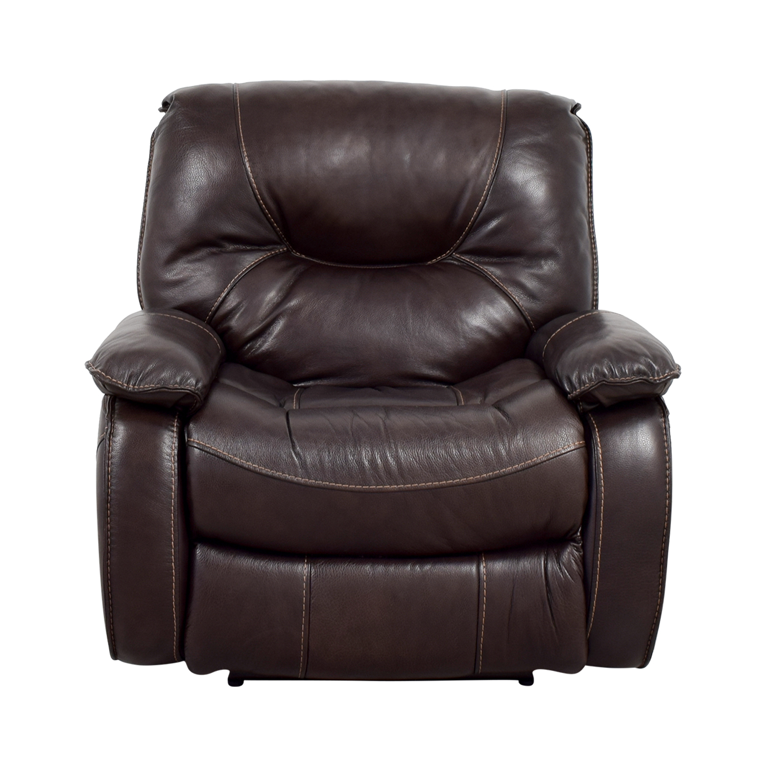 Dark Brown Leather Motorized Recliner used