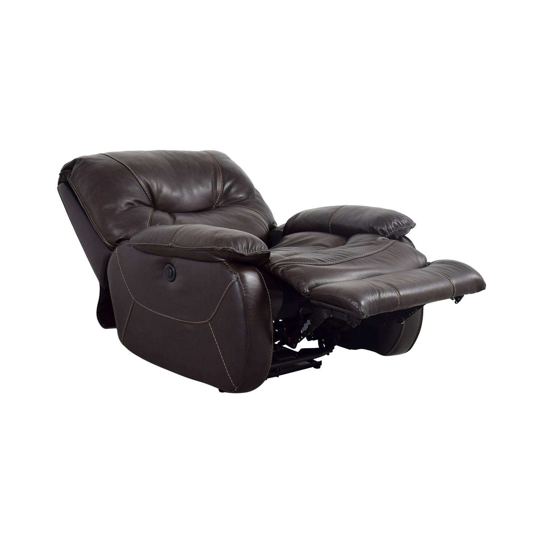 Peachy 86 Off Dark Brown Leather Motorized Recliner Chairs Spiritservingveterans Wood Chair Design Ideas Spiritservingveteransorg
