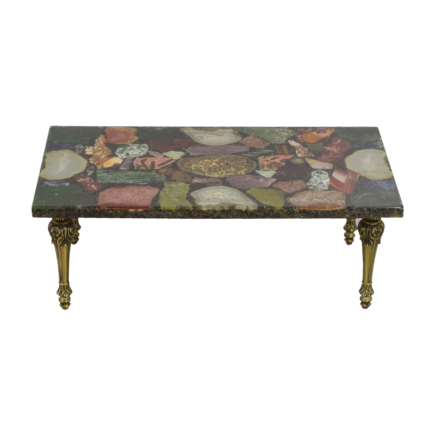 Assorted Gem Stone Coffee Table Tables