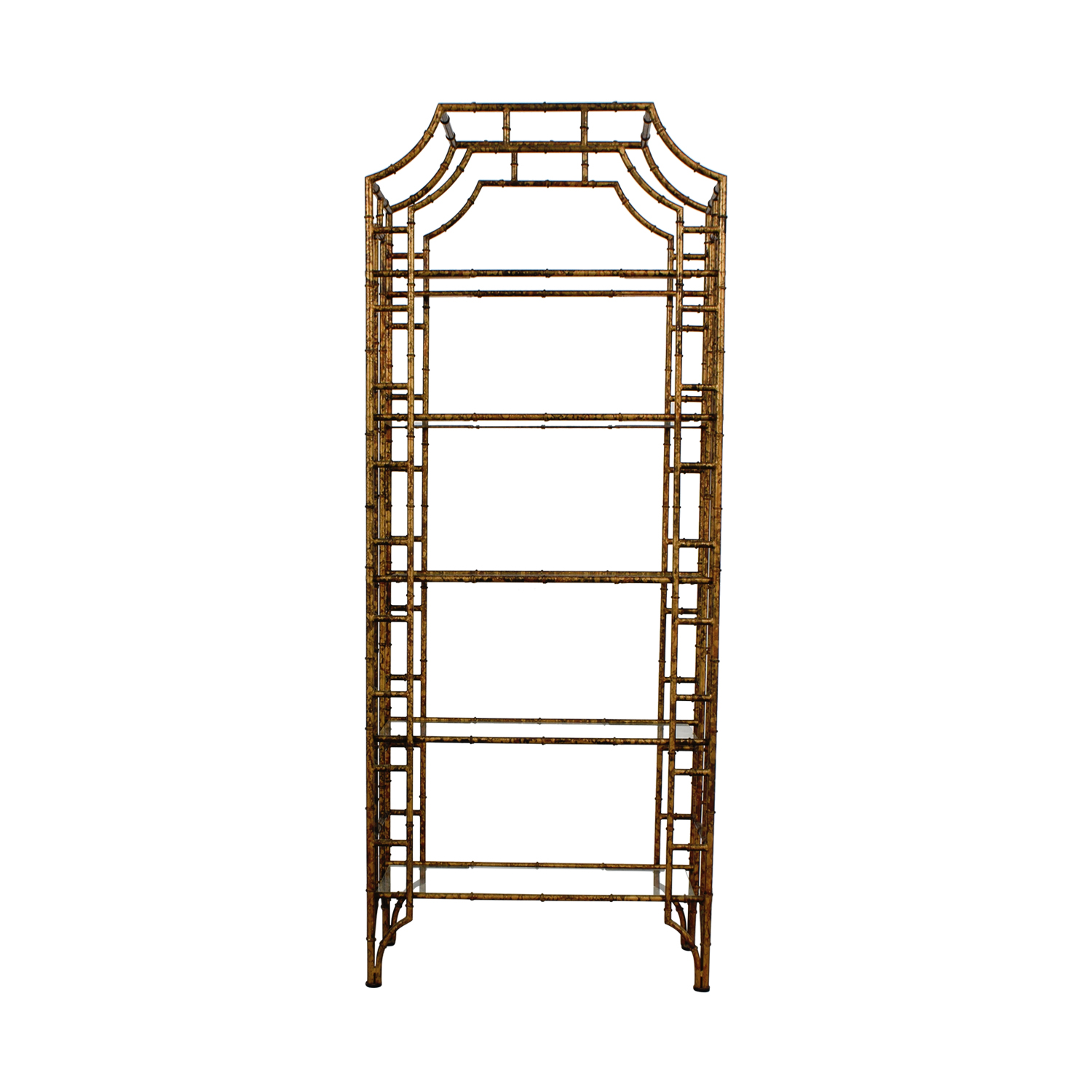 shop Etegere Glass Bookshelf Bookcases & Shelving