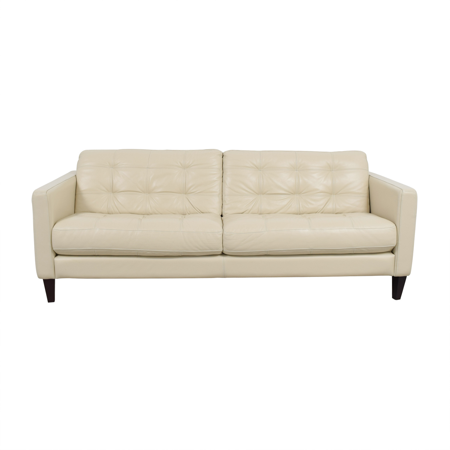 buy Macys Macys White Leather Tufted Sofa online