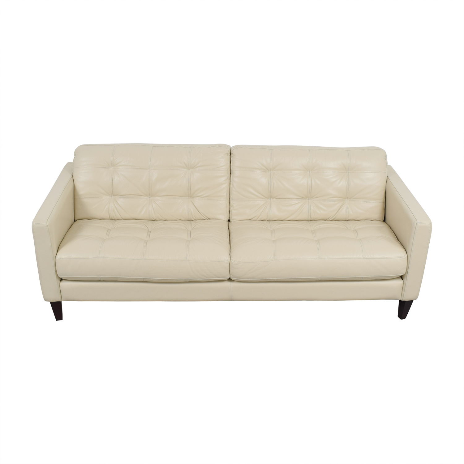 buy Macys White Leather Tufted Sofa Macys Classic Sofas