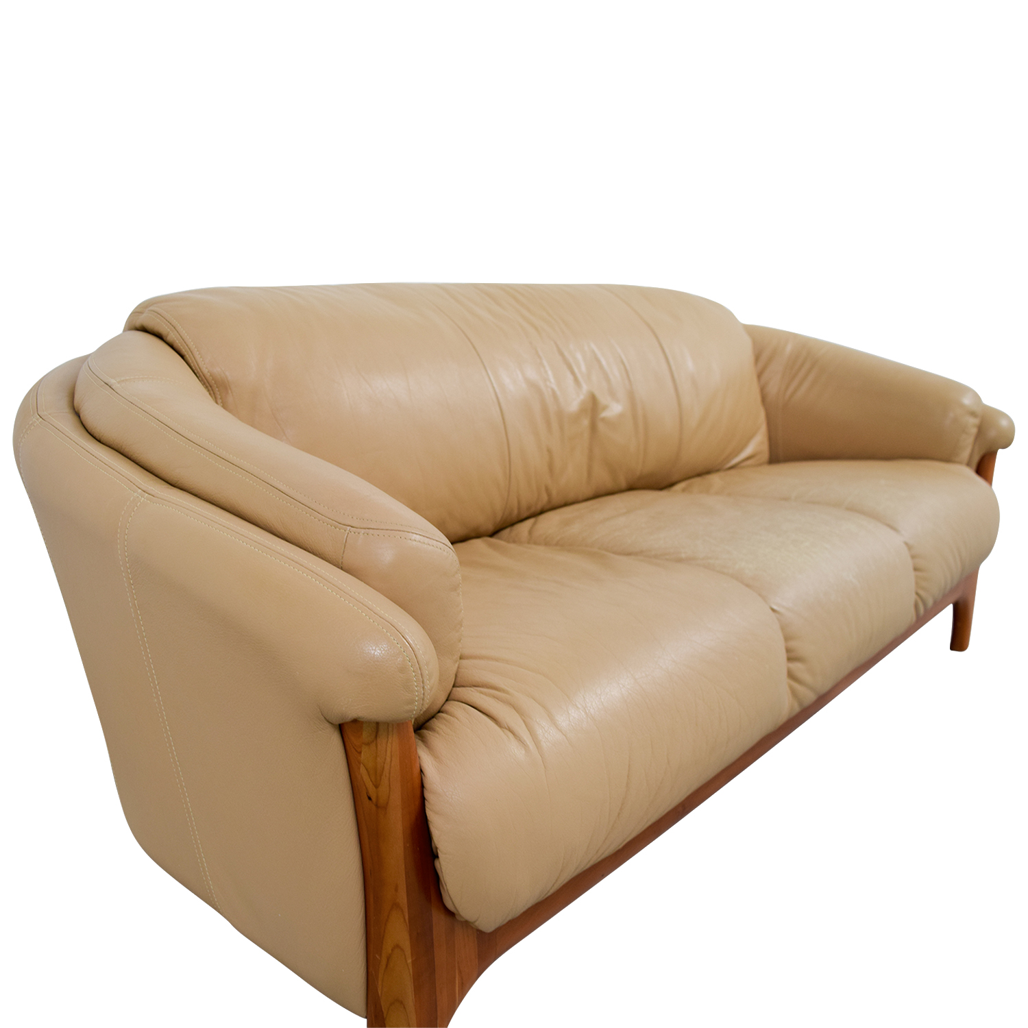 ... Shop House Of Norway Brown Leather Sofa House Of Norway Skandinavian  Furniture Classic Sofas ...