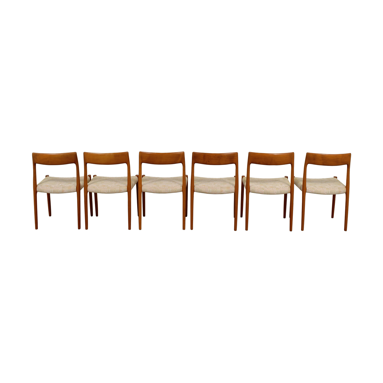 Skandinavian Furniture Skandinavian Furniture Wood Upholstered Dining Chairs beige