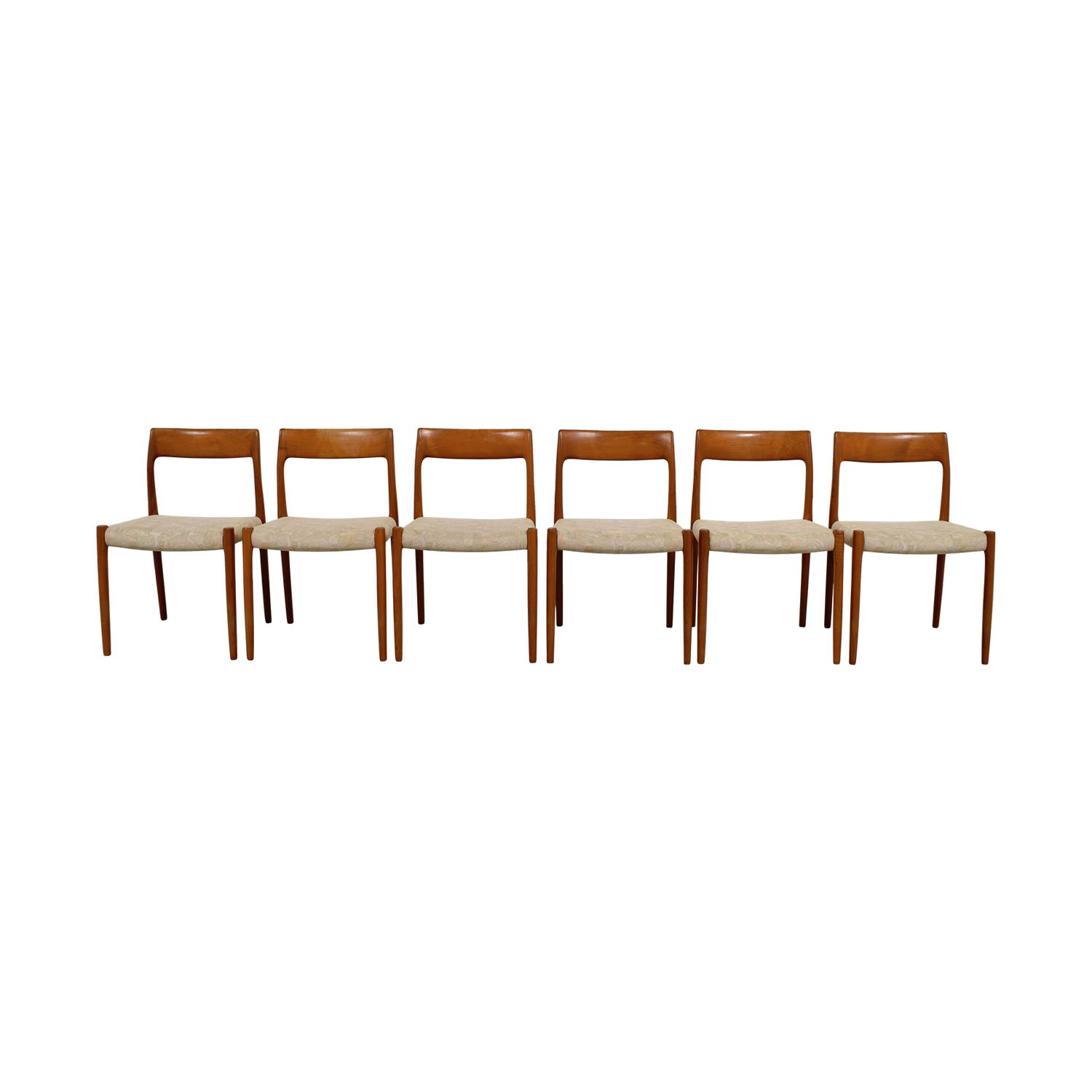 Skandinavian Furniture Wood Upholstered Dining Chairs / Dining Chairs