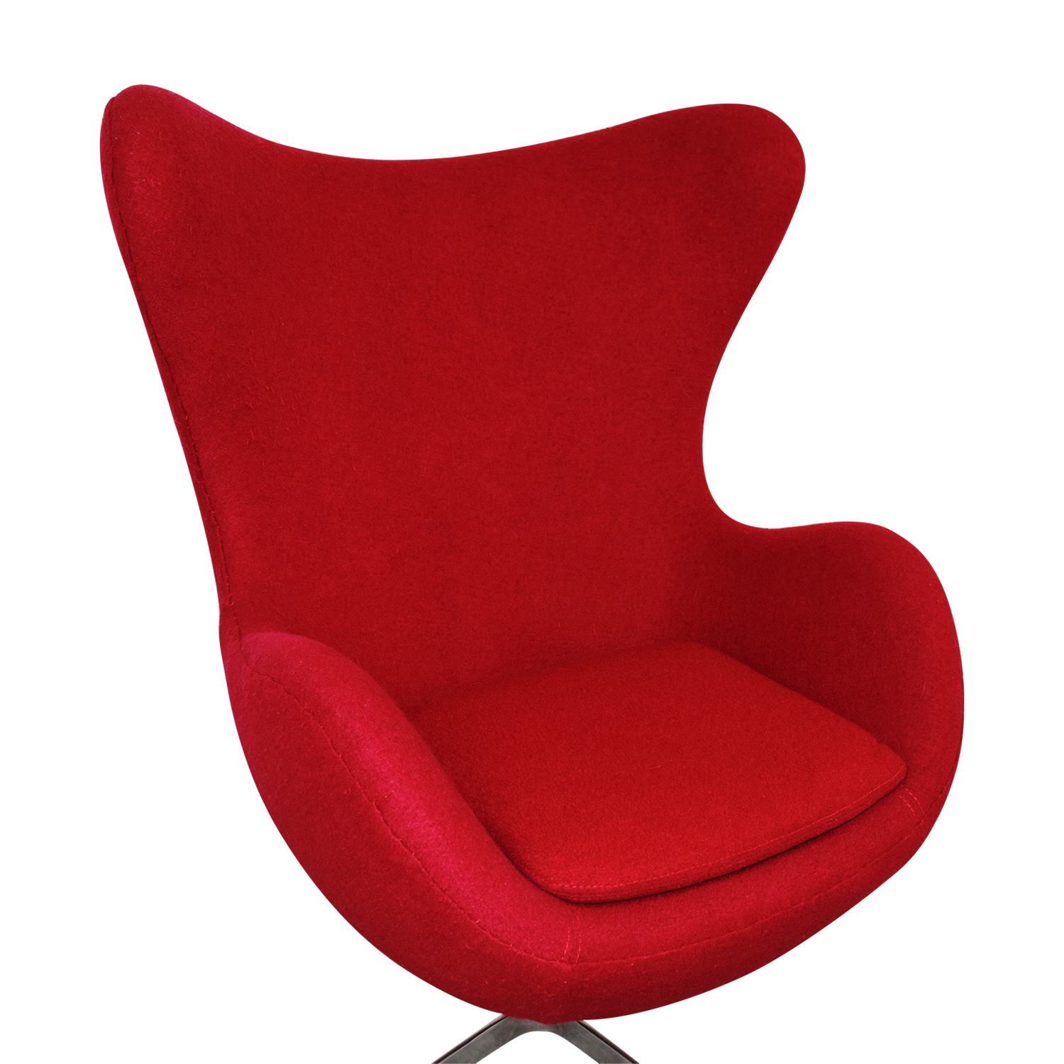 ... Shop Red And Chrome Egg Chair Accent Chairs ...