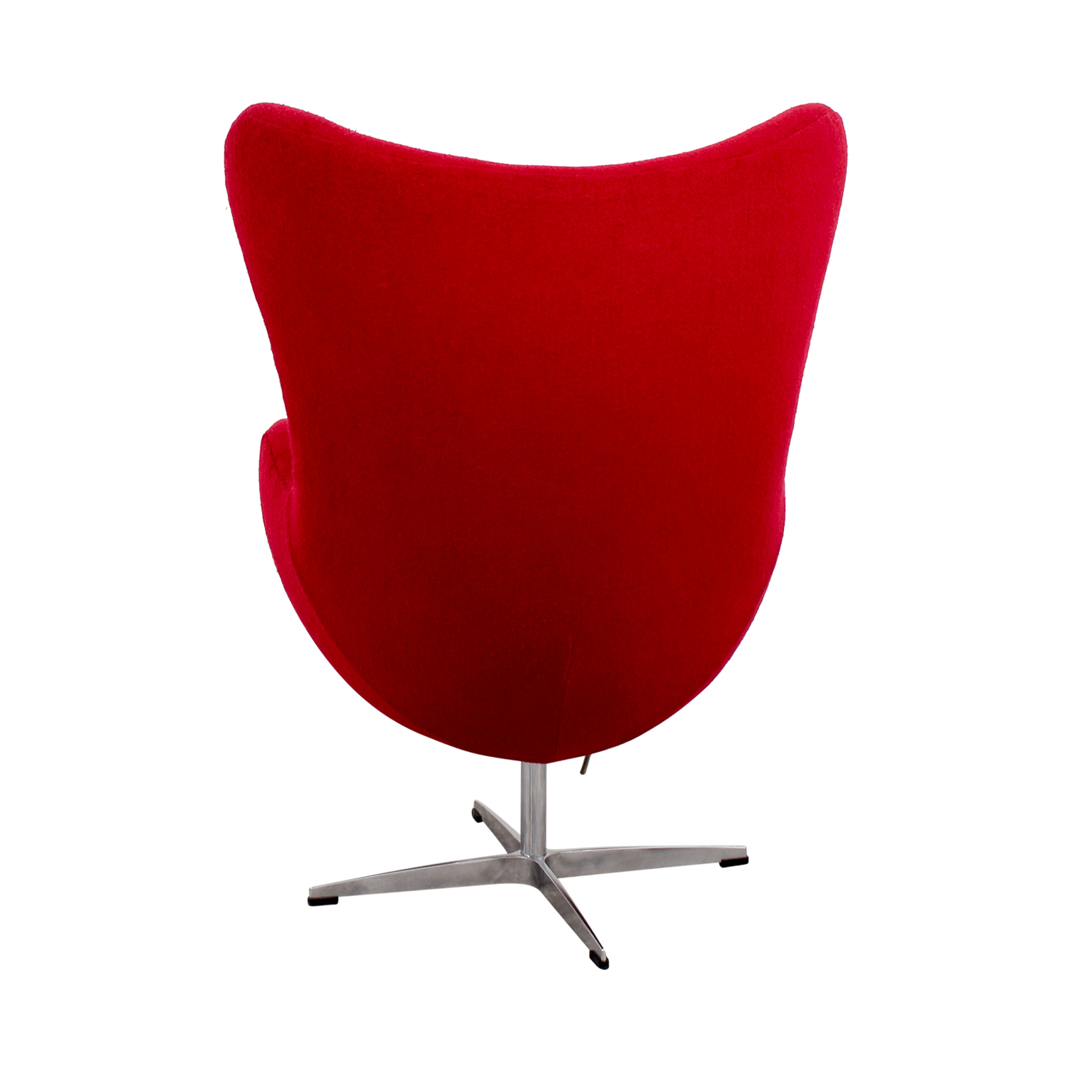 shop Red and Chrome Egg Chair Chairs