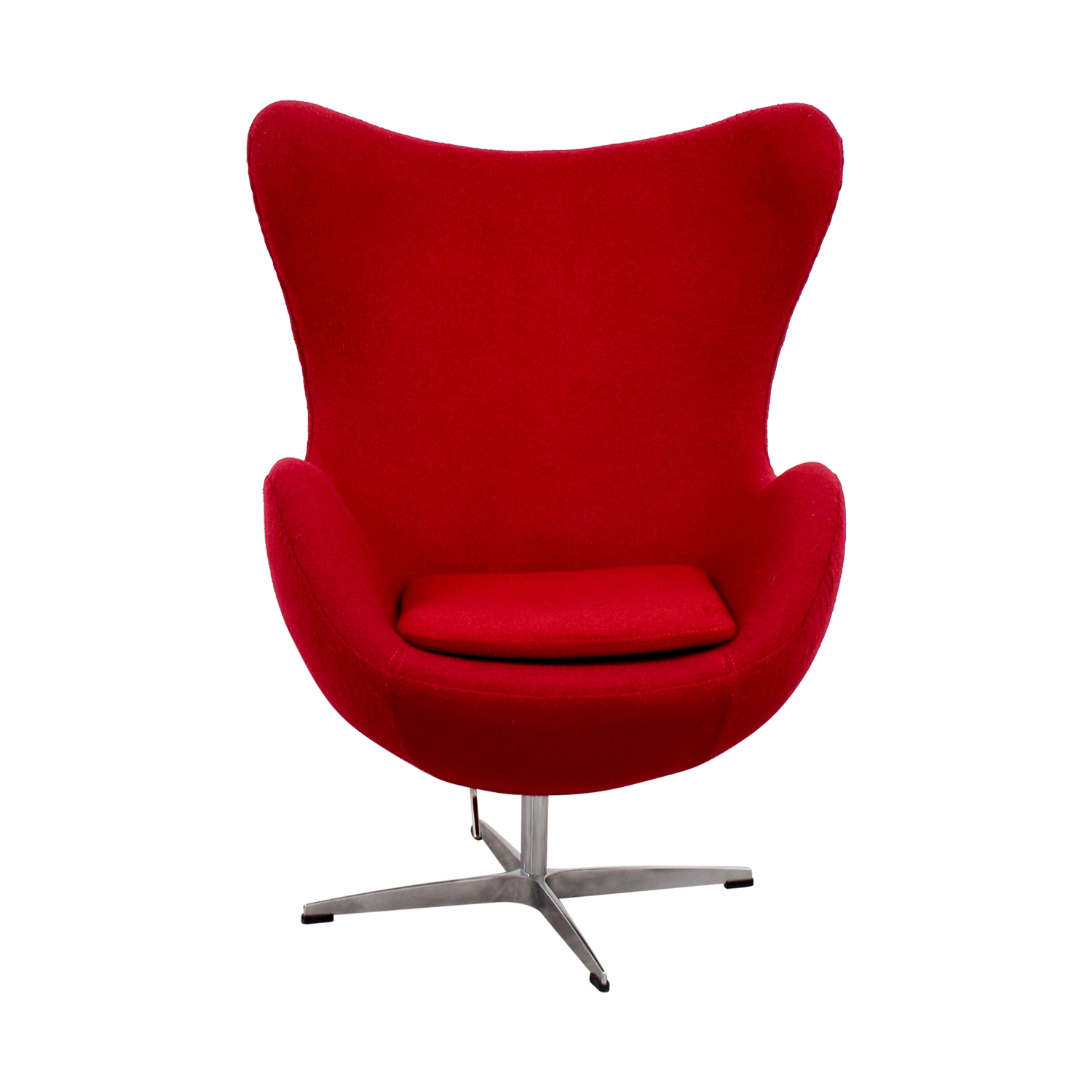 Red And Chrome Egg Chair On Sale ...