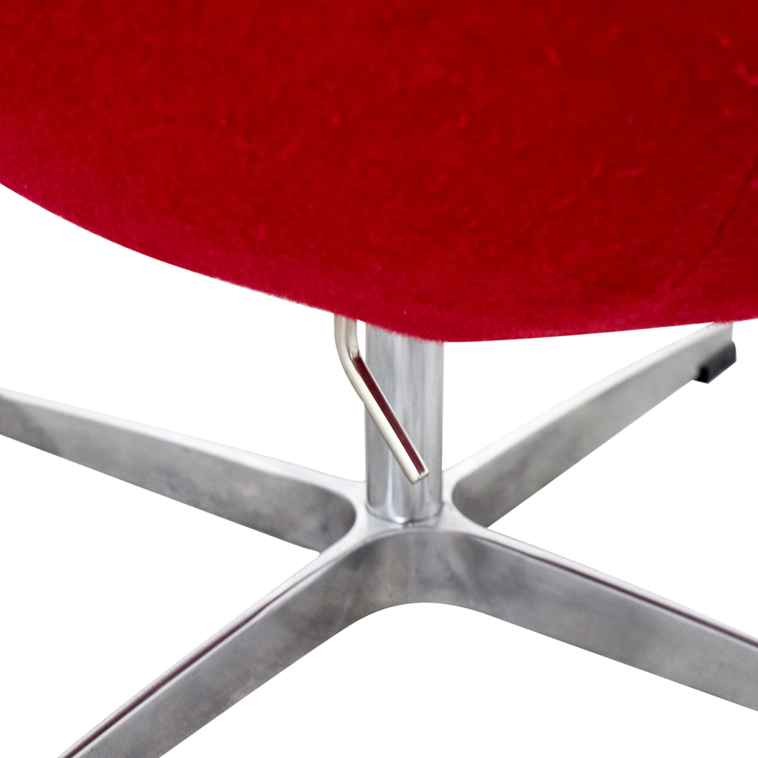 Egg Chair Accent Chairs.72 Off Red And Chrome Egg Chair Chairs