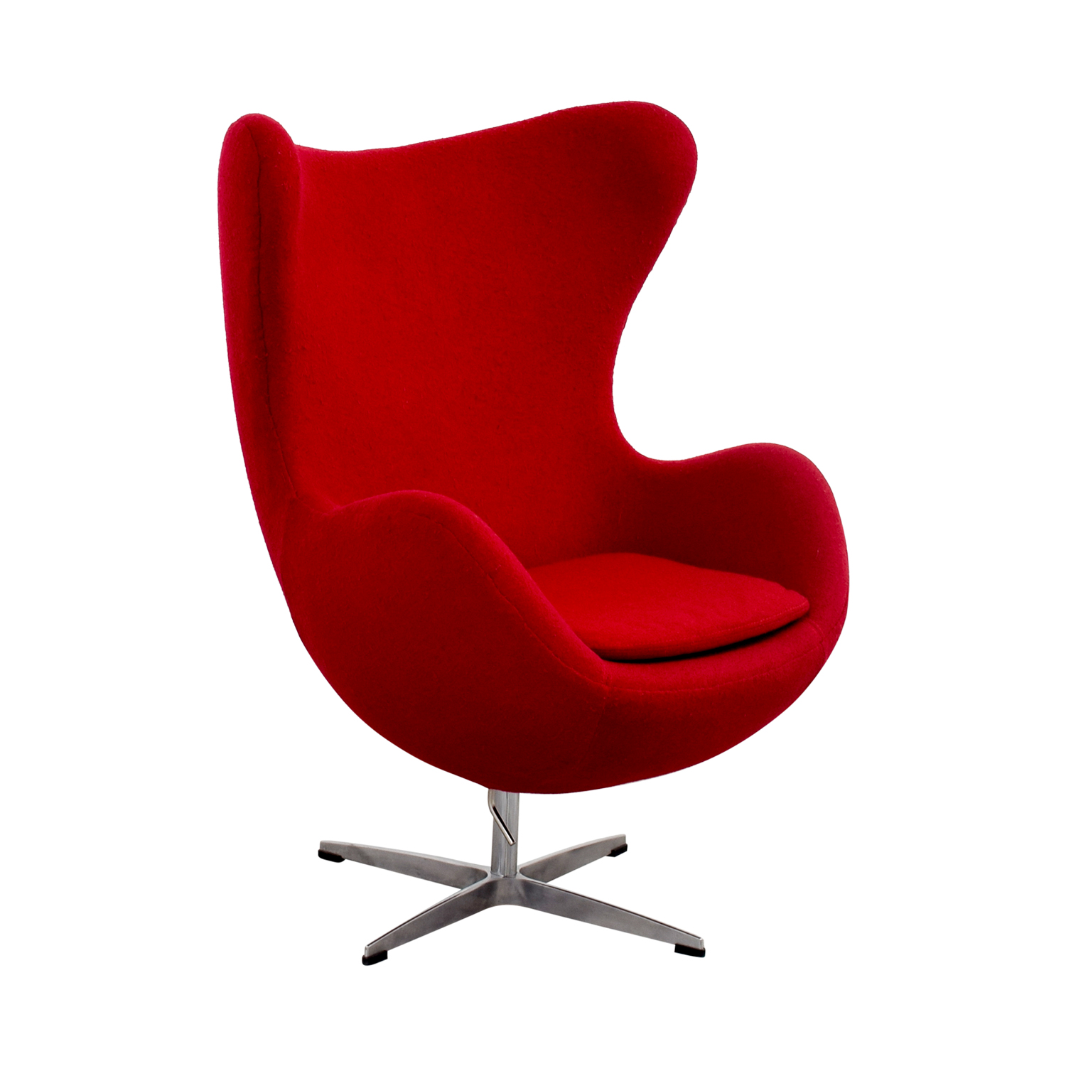 Wonderful ... Red And Chrome Egg Chair On Sale ...