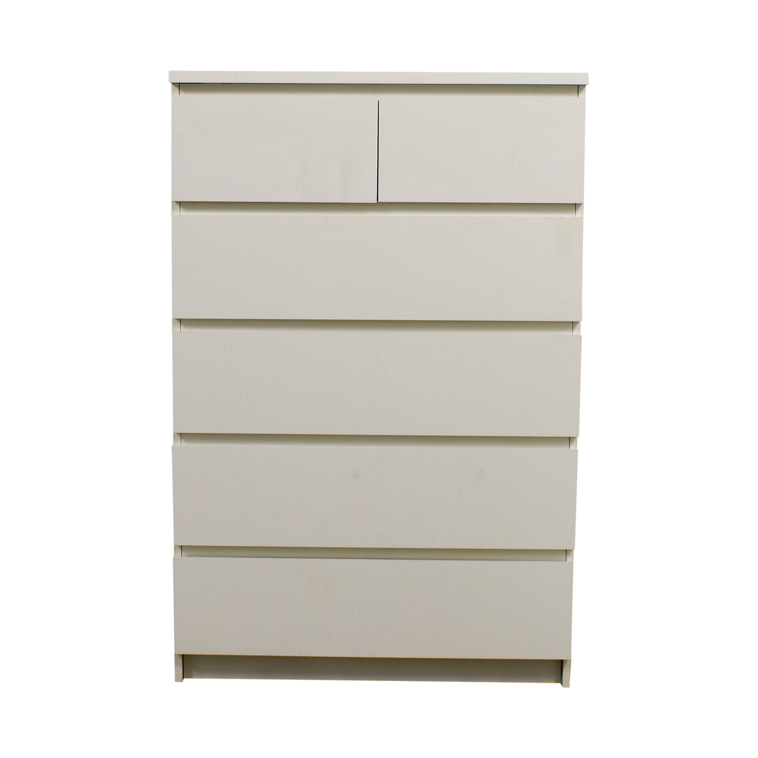 White Six-Drawer Dresser second hand