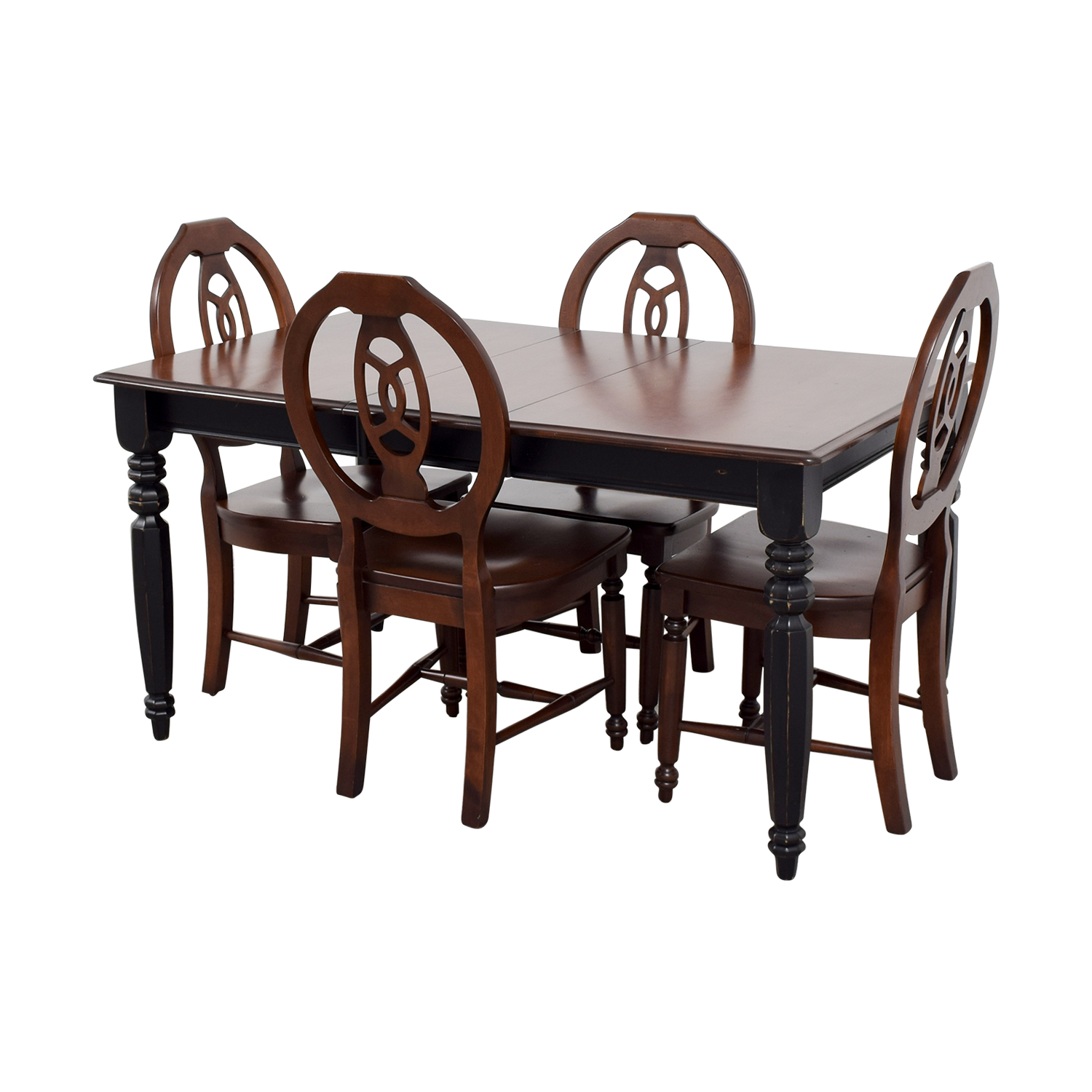 90 off classic wooden extendable dining set tables. Black Bedroom Furniture Sets. Home Design Ideas