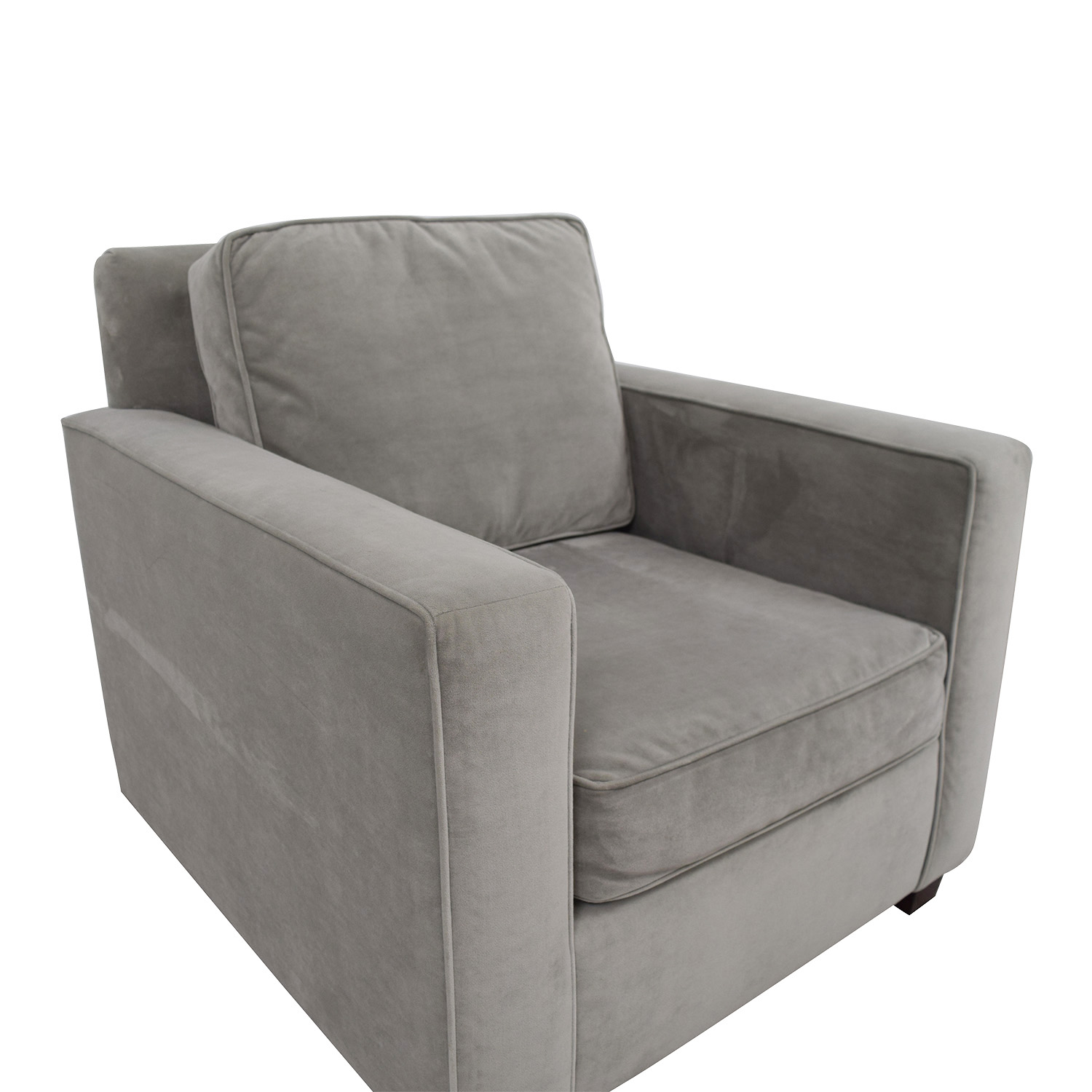 West Elm West Elm Grey Armchair discount