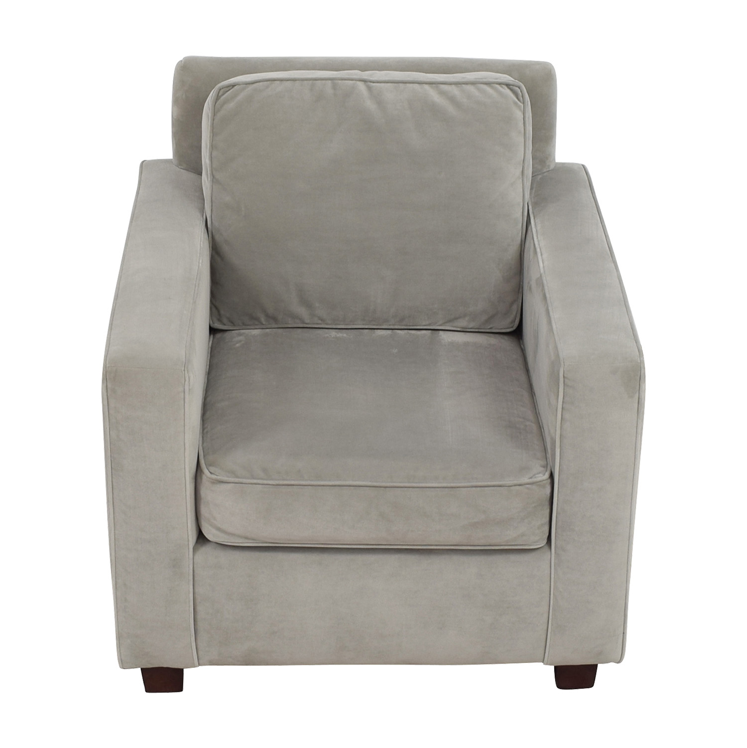 West Elm Grey Armchair / Accent Chairs