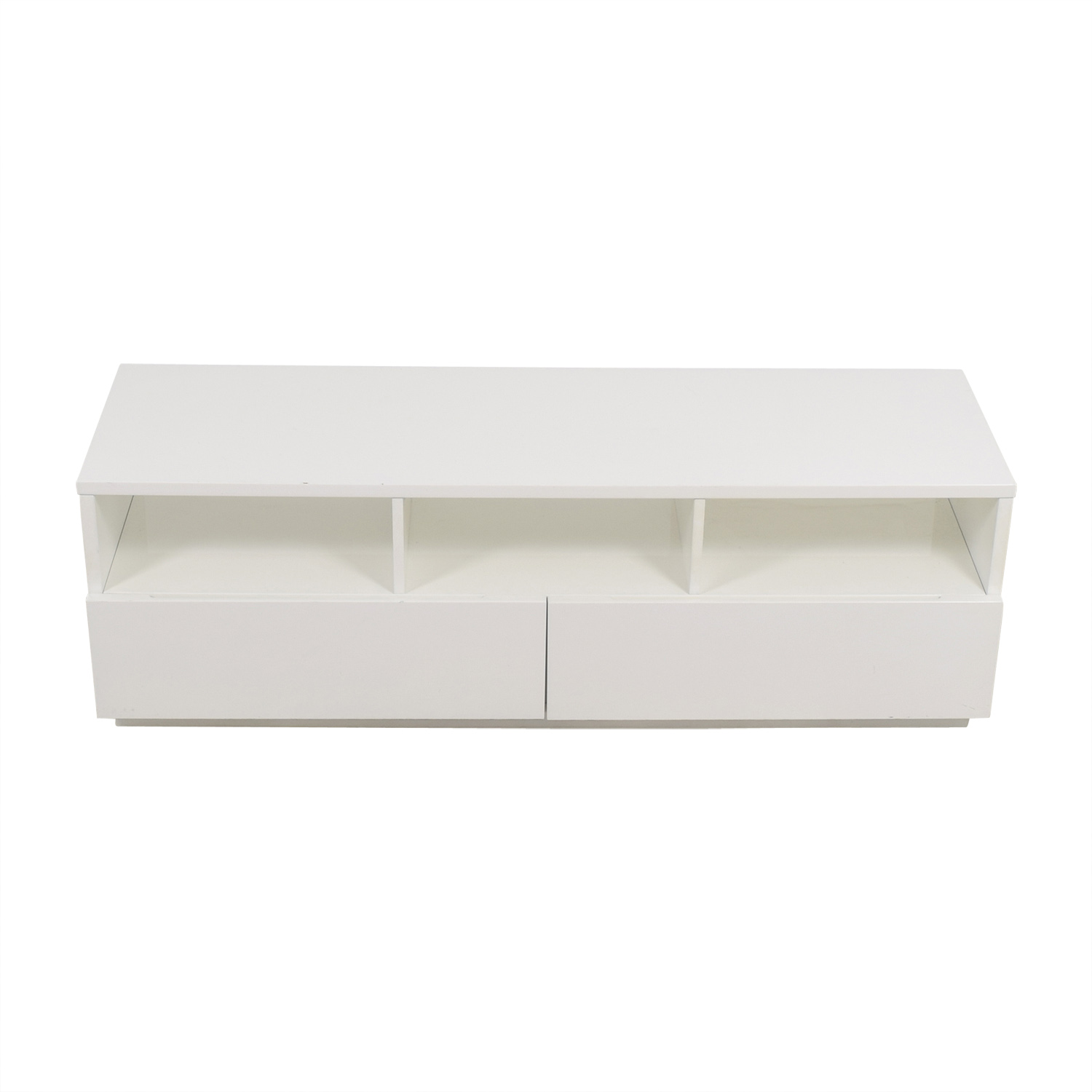 CB2 CB2 Chill White Media Console With Two Drawers on sale