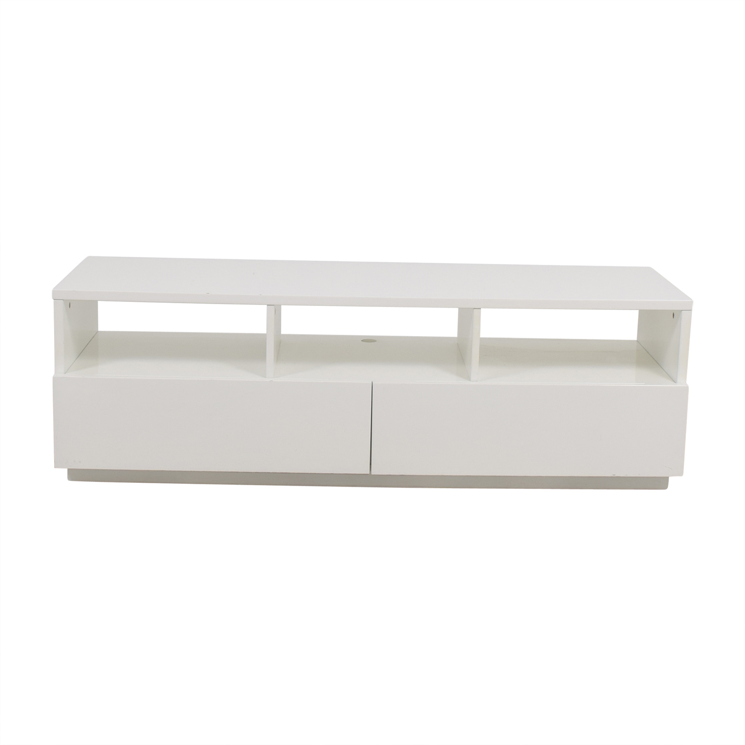 CB2 Chill White Media Console With Two Drawers CB2