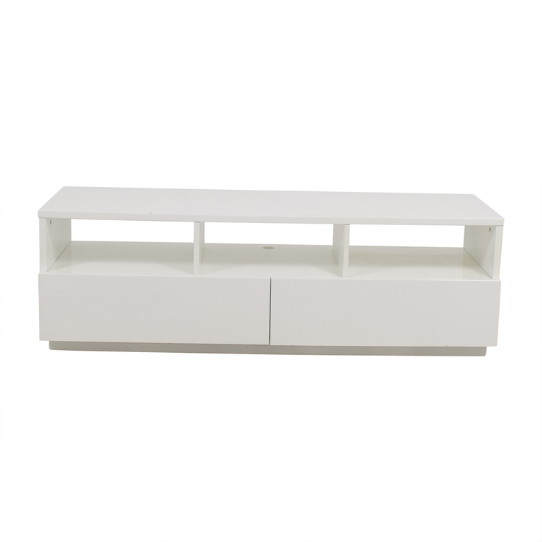 shop CB2 CB2 Chill White Media Console With Two Drawers online