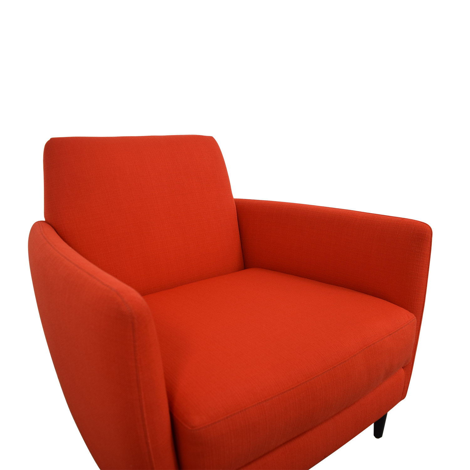 buy CB2 Orange Red Parlour Chair CB2 Accent Chairs