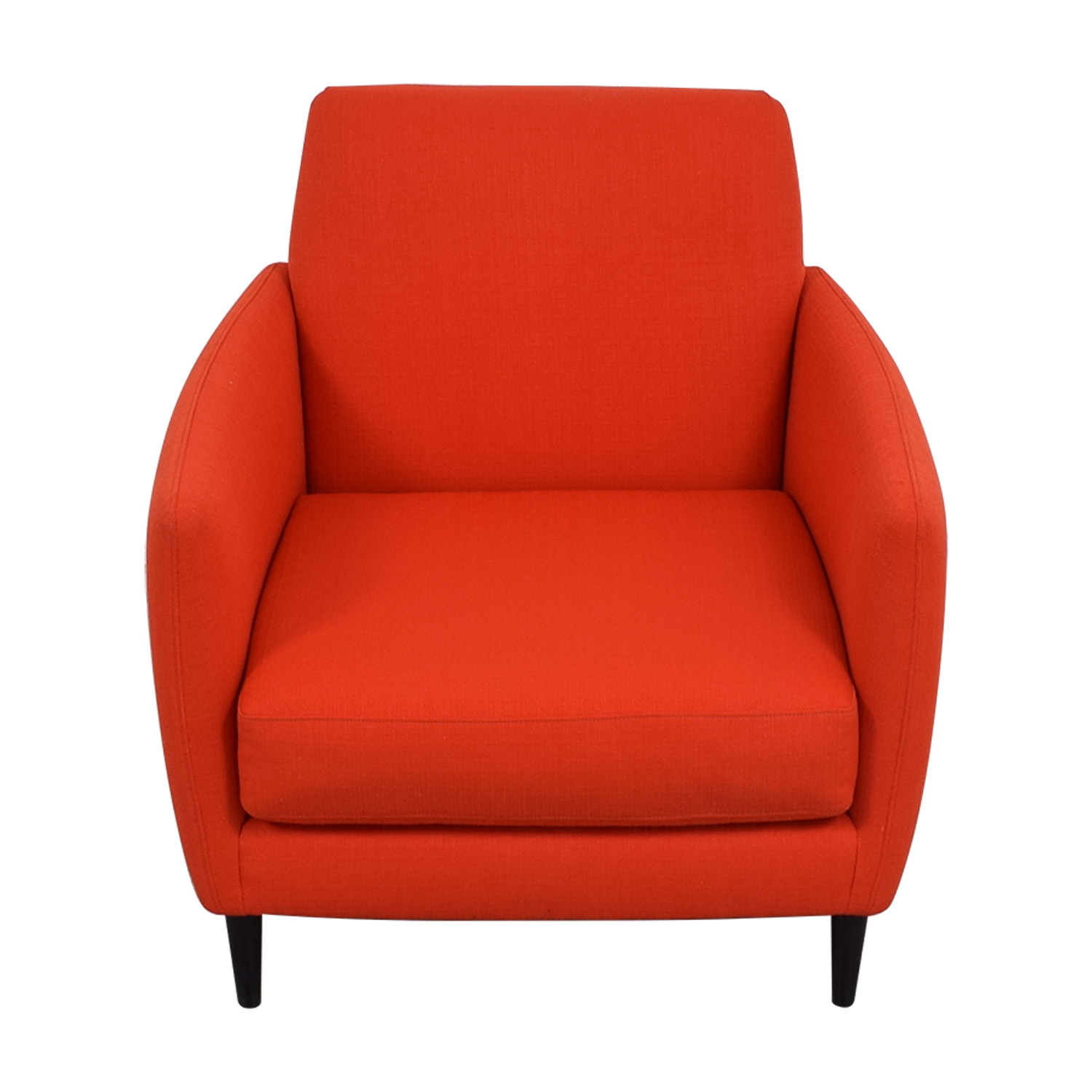 CB2 CB2 Orange Red Parlour Chair dimensions