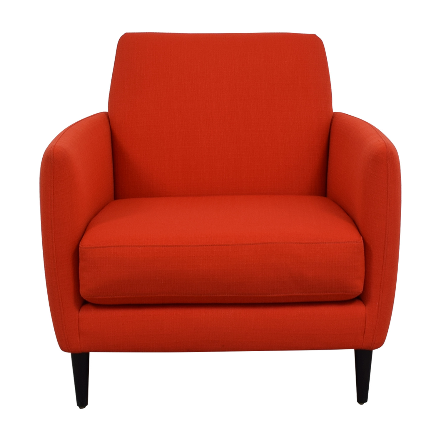 shop CB2 Orange Red Parlour Chair CB2 Accent Chairs