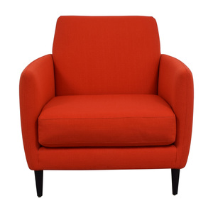 CB2 CB2 Orange Red Parlour Chair used
