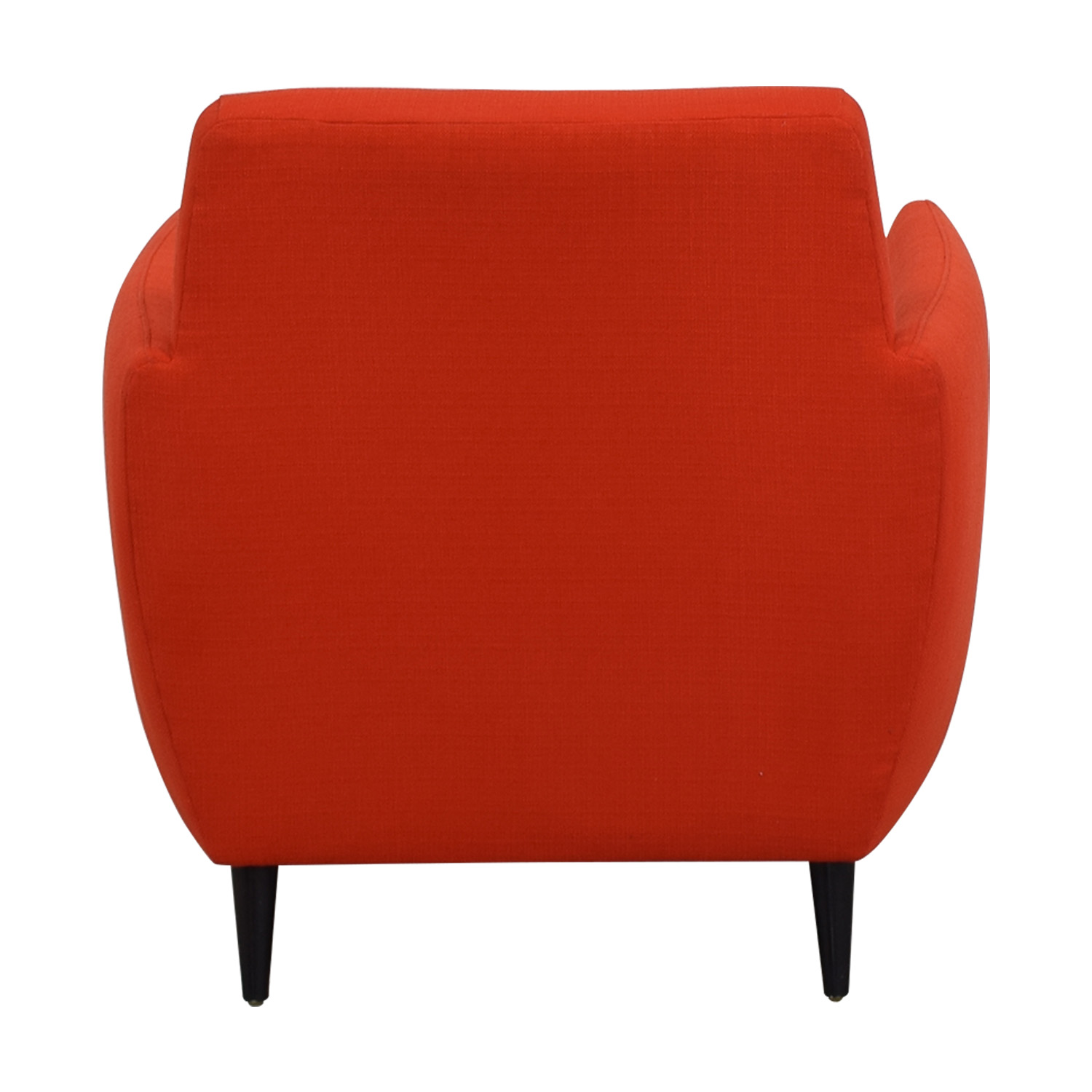 CB2 Orange Red Parlour Chair sale