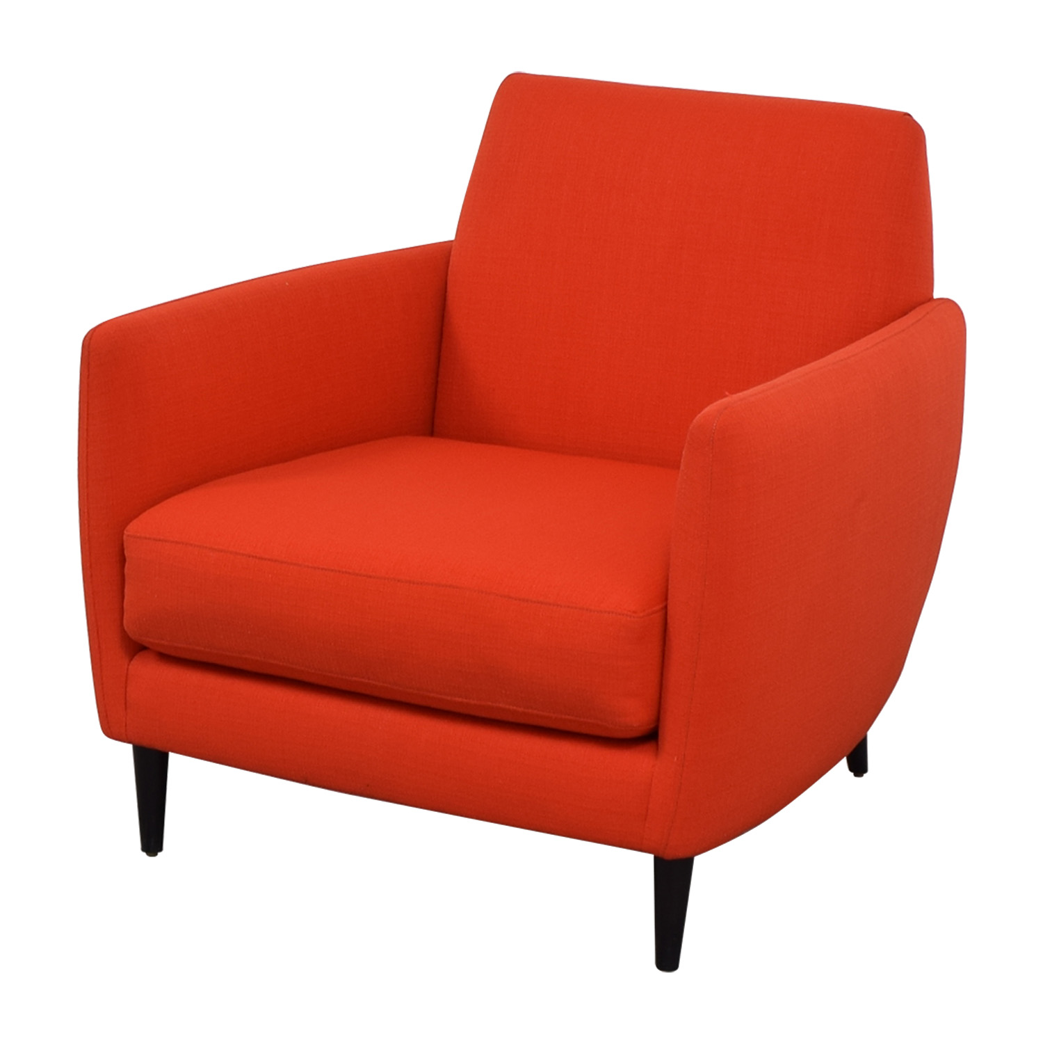 CB2 CB2 Orange Red Parlour Chair nyc