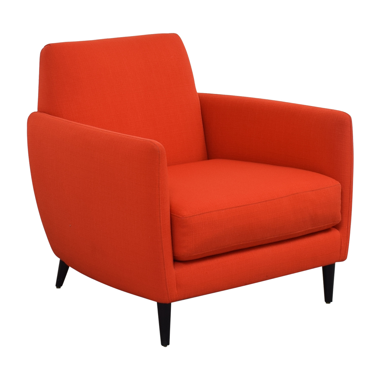 CB2 CB2 Orange Red Parlour Chair on sale