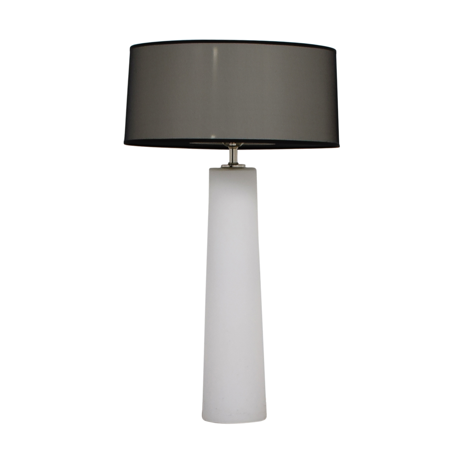 White Bedside Lamp with Base and Top Lighting sale