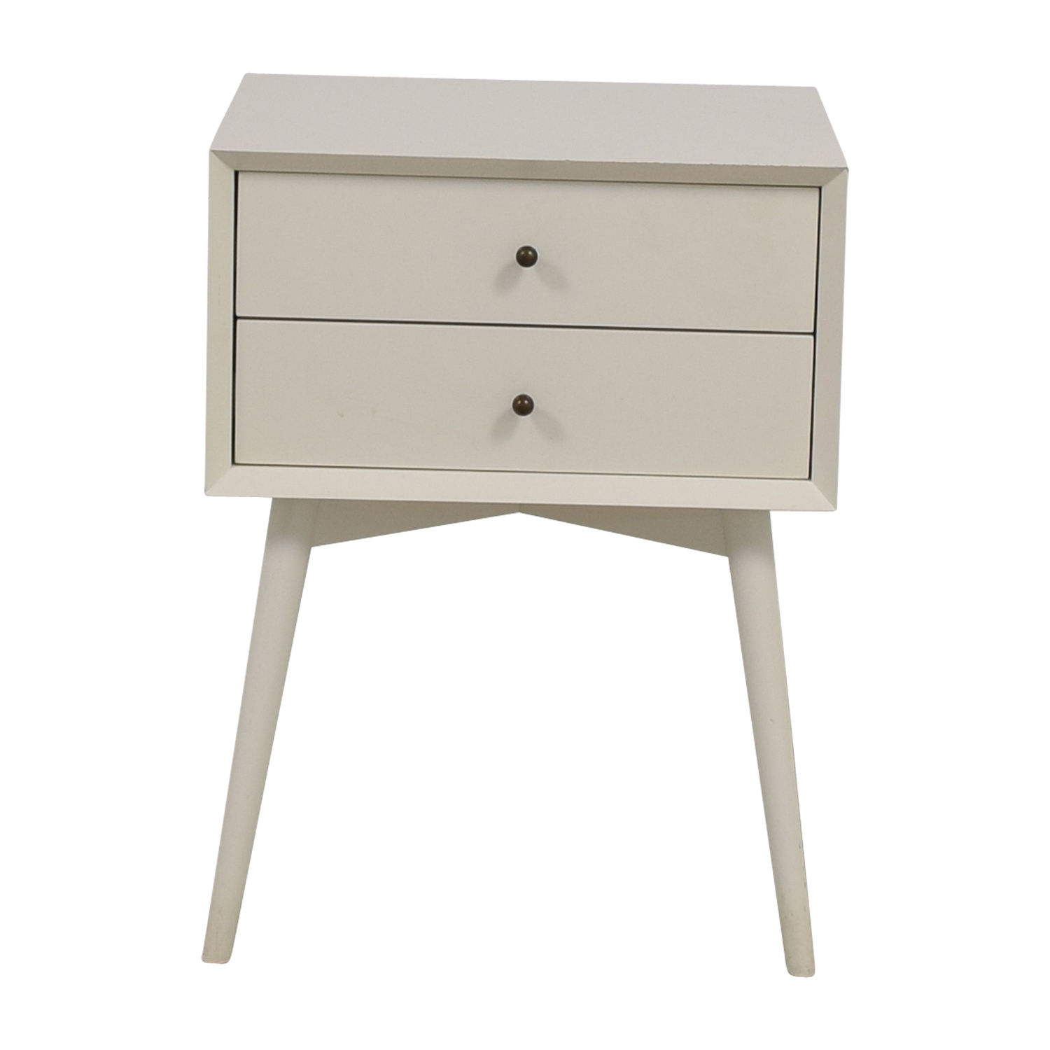OFF West Elm West Elm White Two Drawer Nightstand Tables