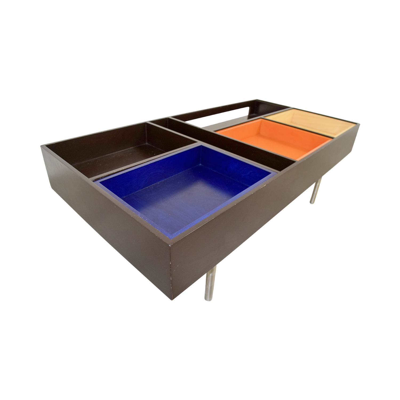 Metropolitan Design Center Multi Colored Coffee Table Nyc