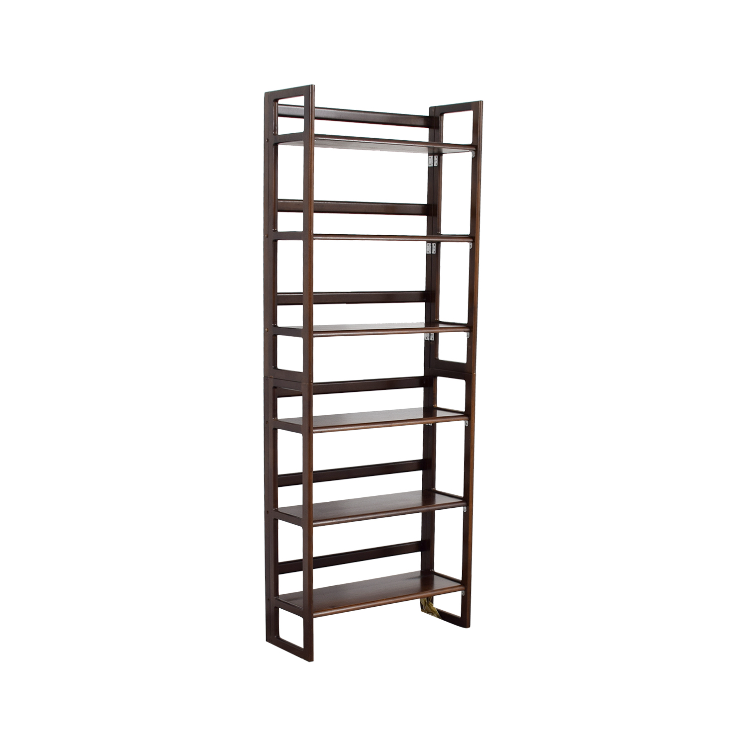 buy Cherry Wood Six Shelf Bookshelf