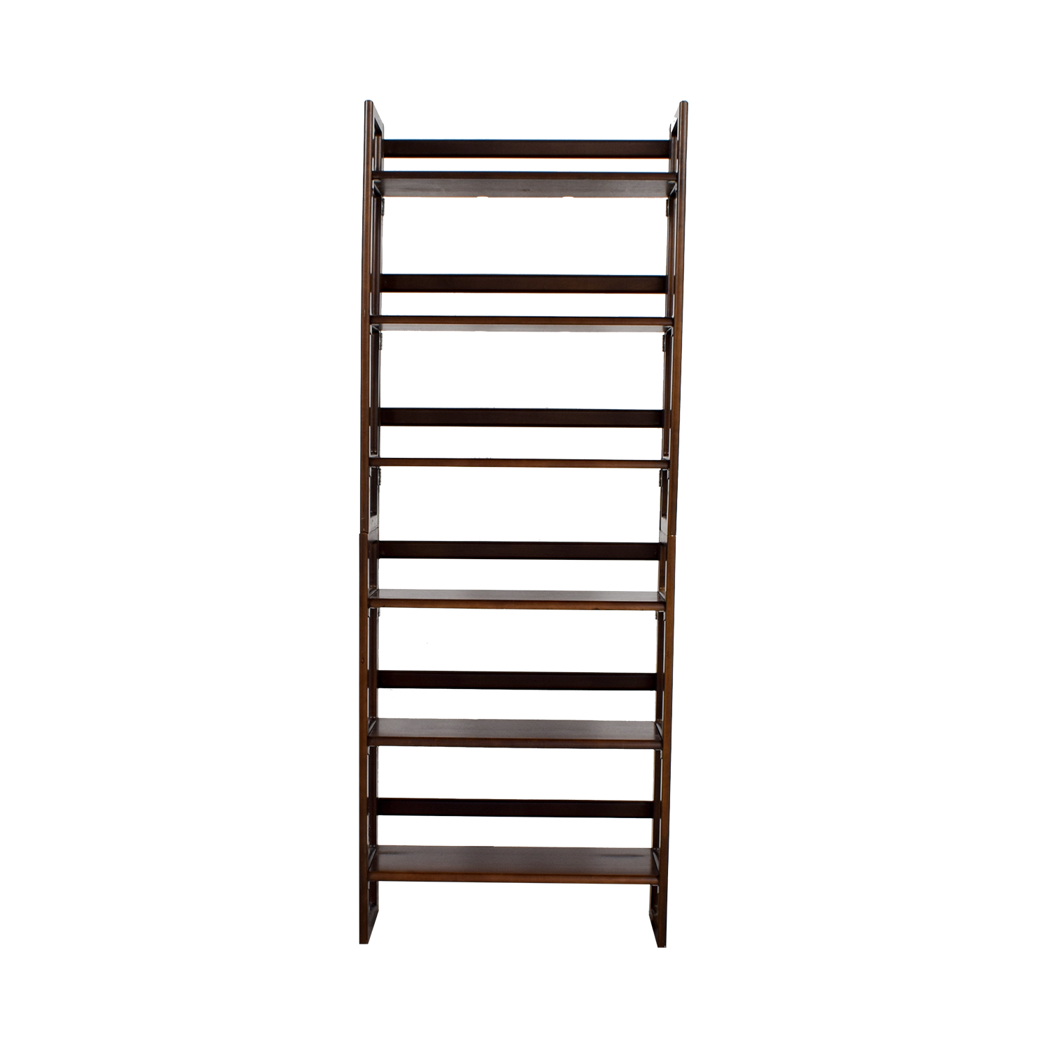 buy Cherry Wood Six Shelf Bookshelf Bookcases & Shelving