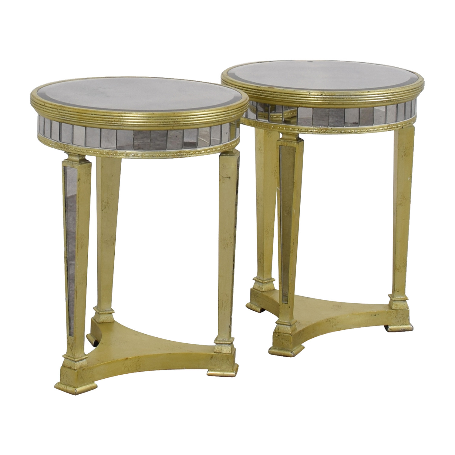 83 OFF Z Galleries Z Galleries Borghese Mirrored Side Tables Tables