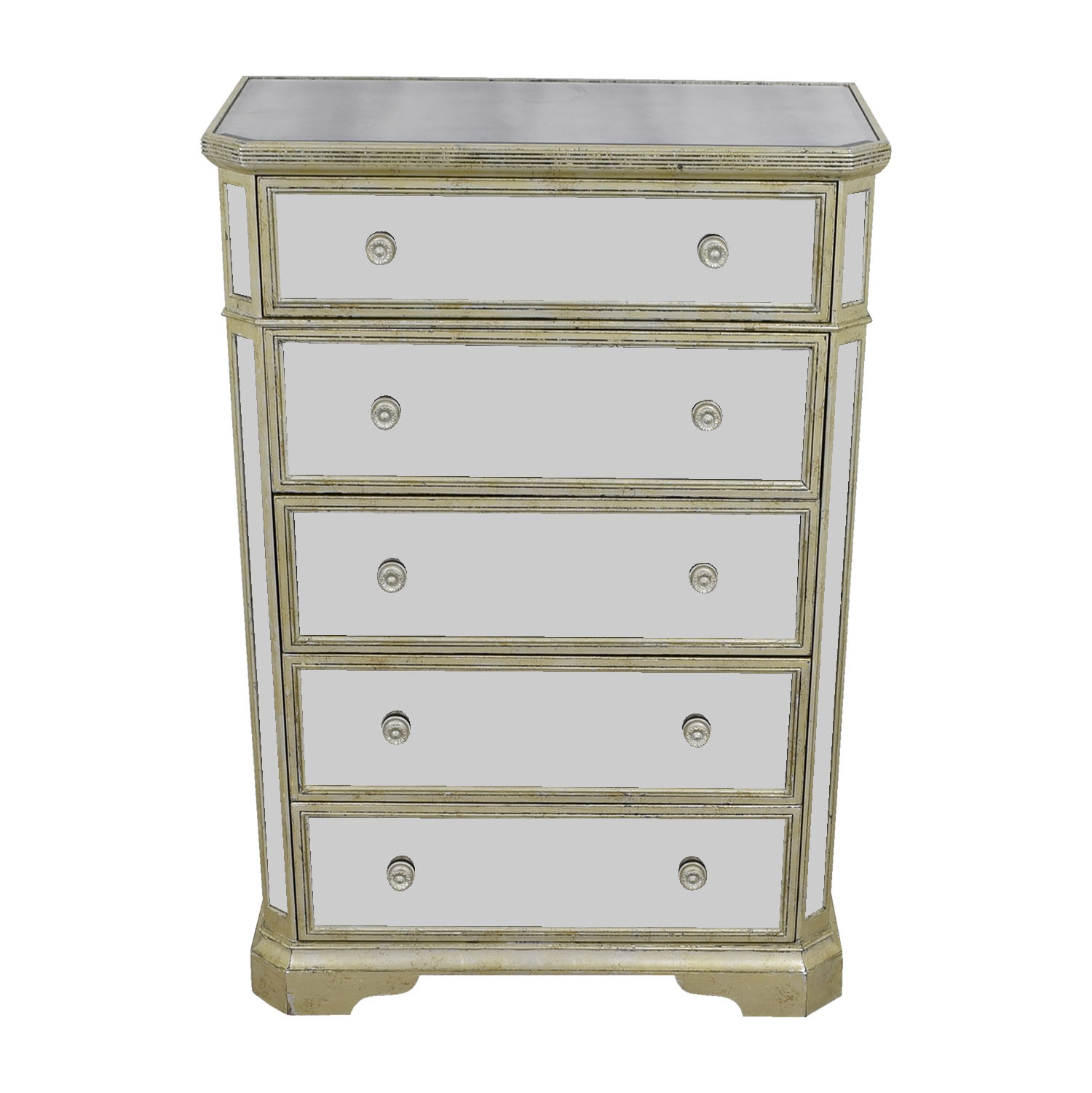 Z Galleries Z Galleries Borghese Five-Drawer Mirrored Chest Dressers