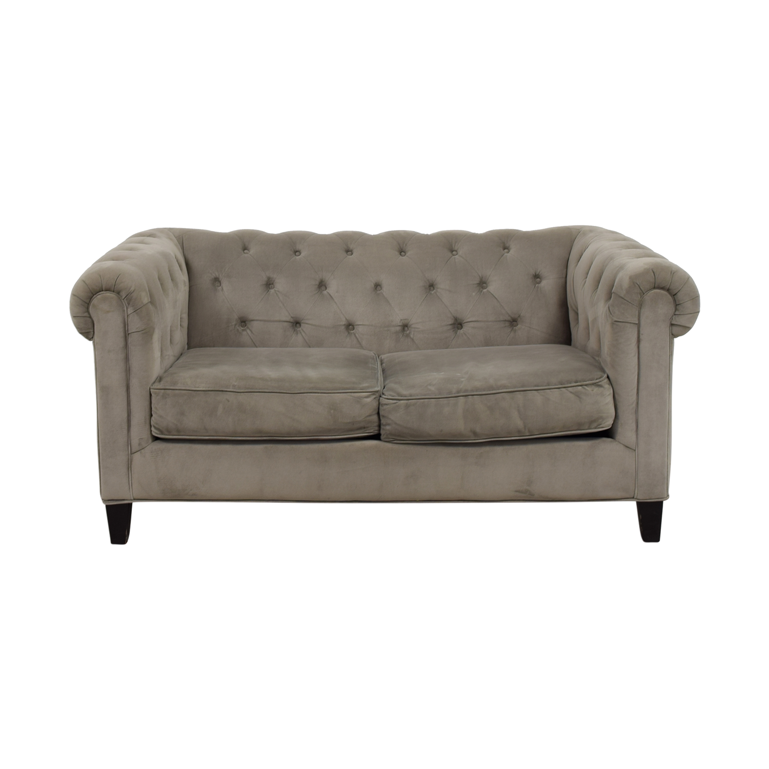 Macy's Gray Velvet Sofa sale