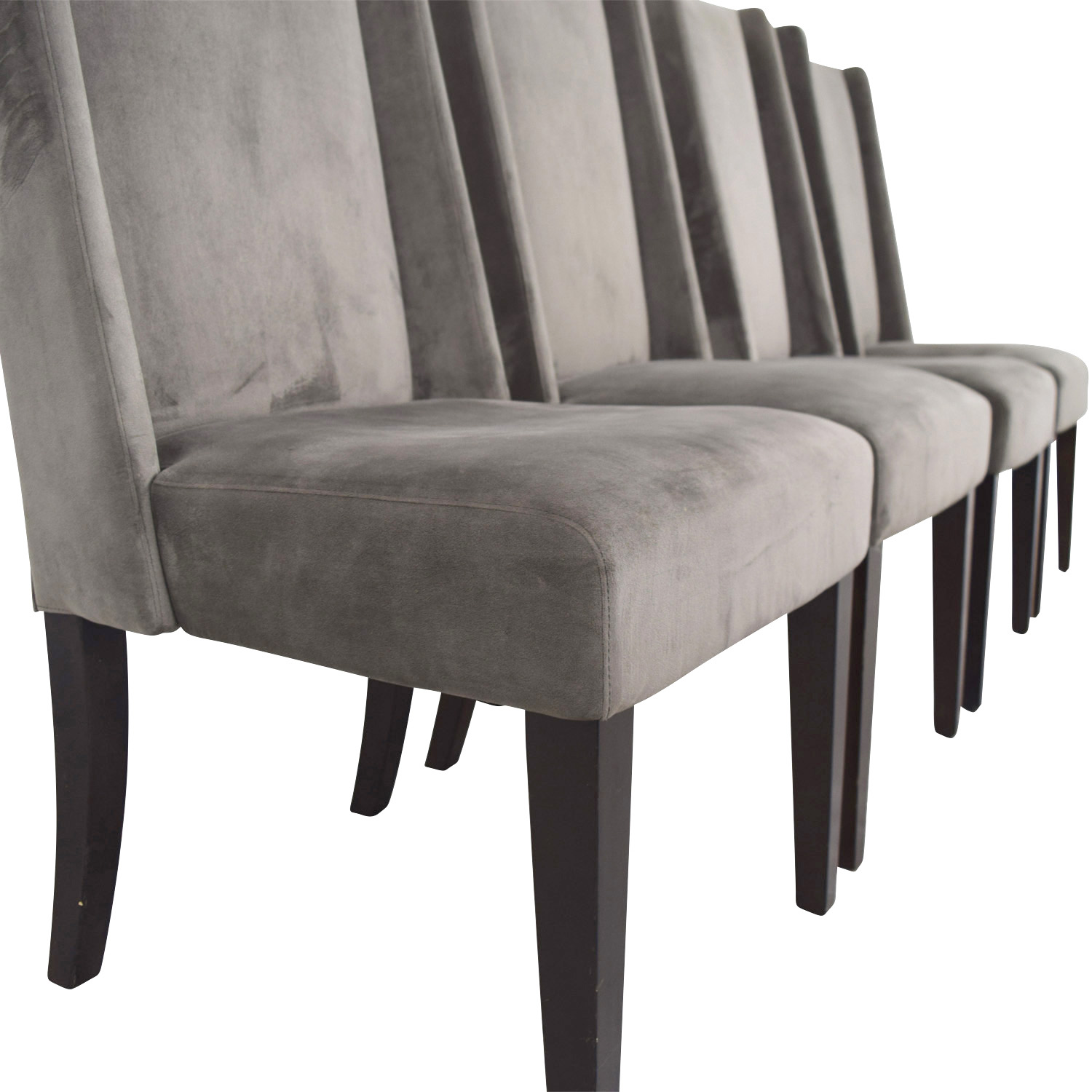 82 Off West Elm West Elm Velvet Dining Chairs Chairs