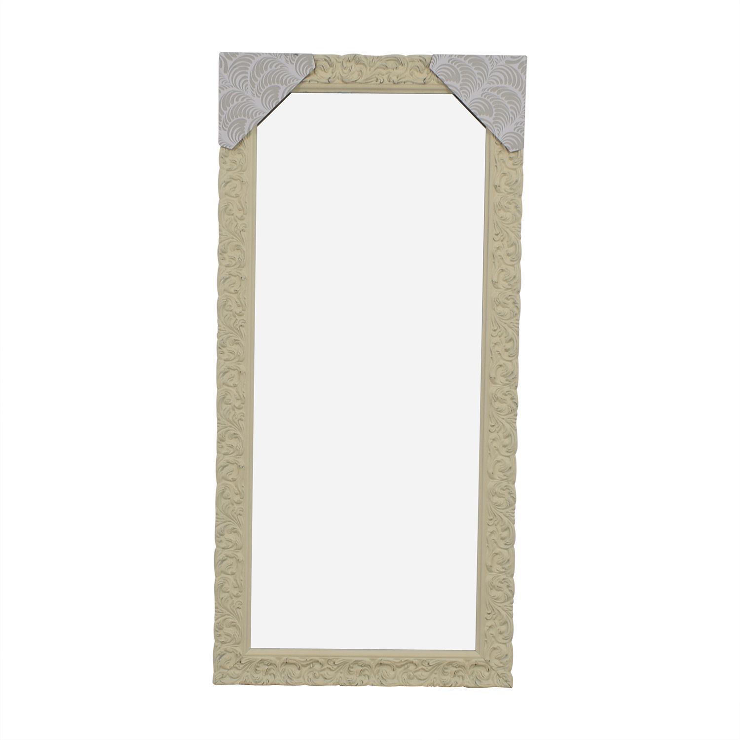 White Floral Floor Mirror dimensions