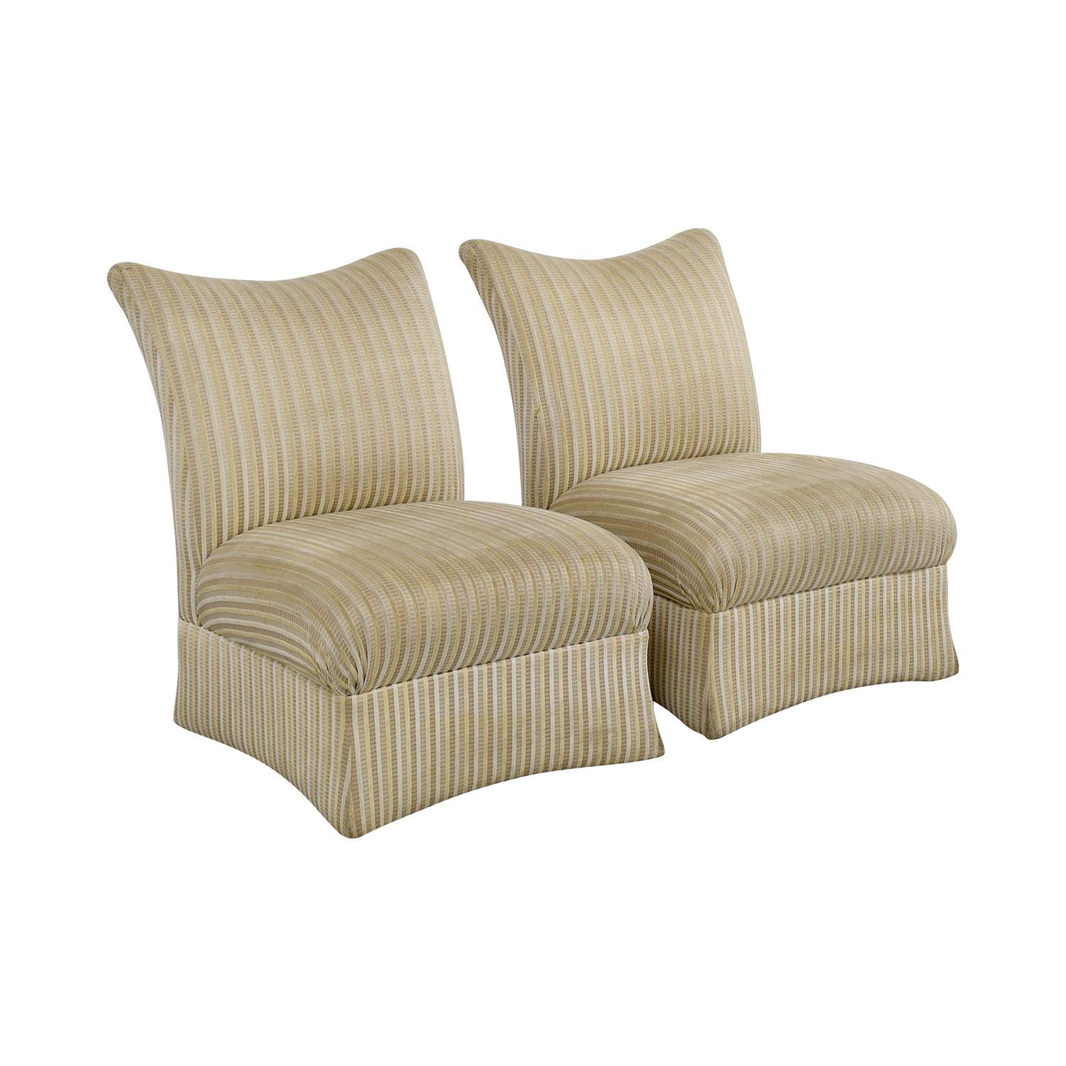 Ethan Allen Ethan Allen Striped Accent Chairs