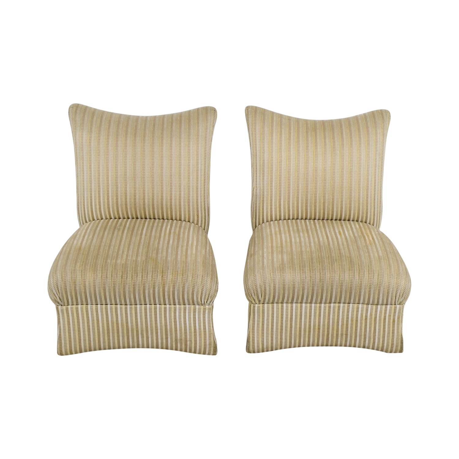 Ethan Allen Striped Accent Chairs