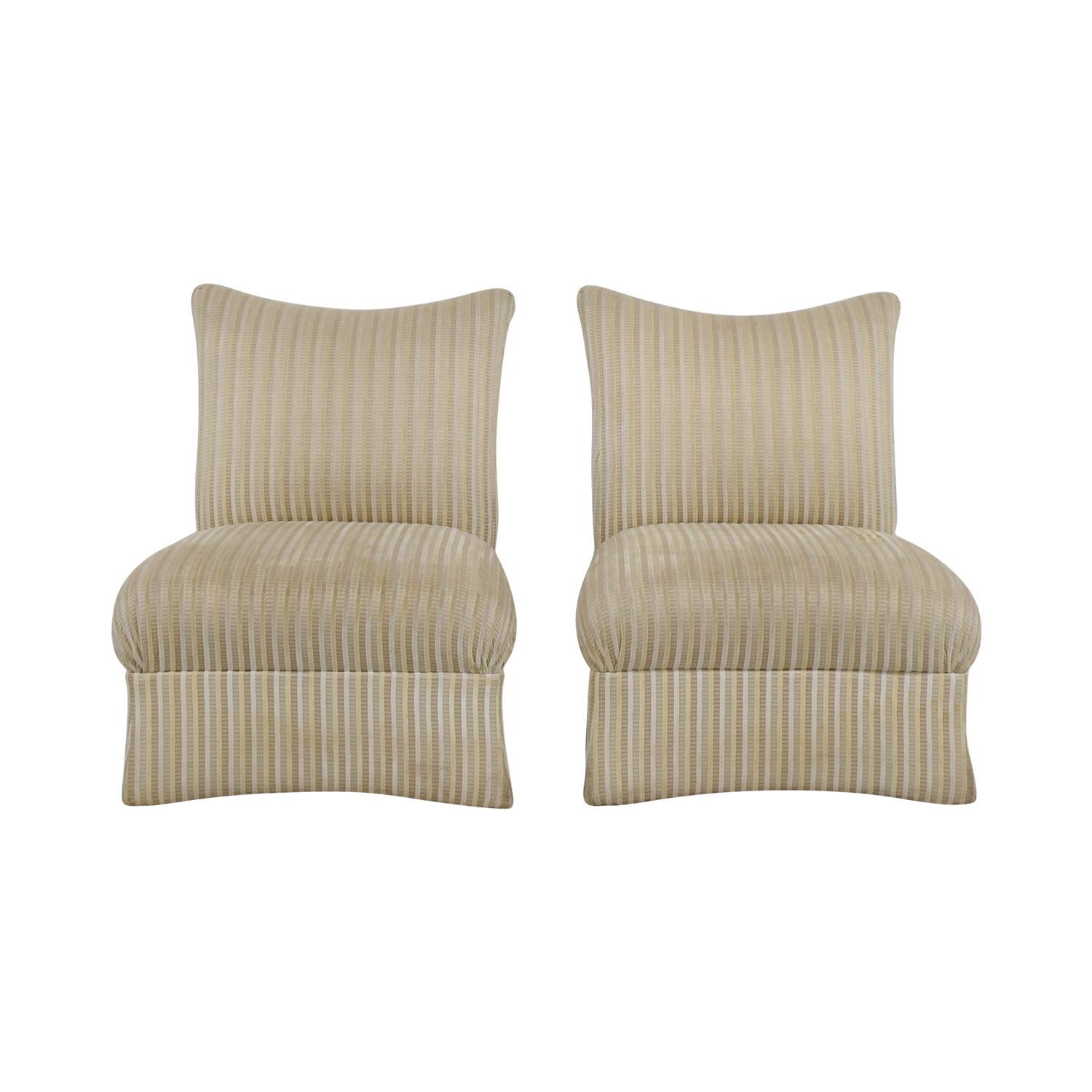 Ethan Allen Ethan Allen Striped Accent Chairs dimensions