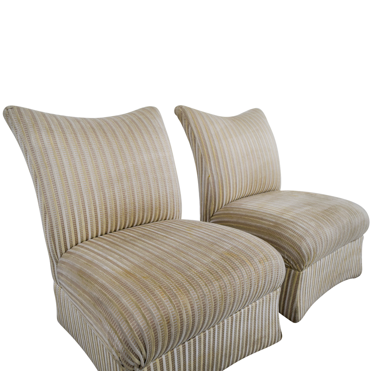 Ethan Allen Ethan Allen Striped Accent Chairs discount