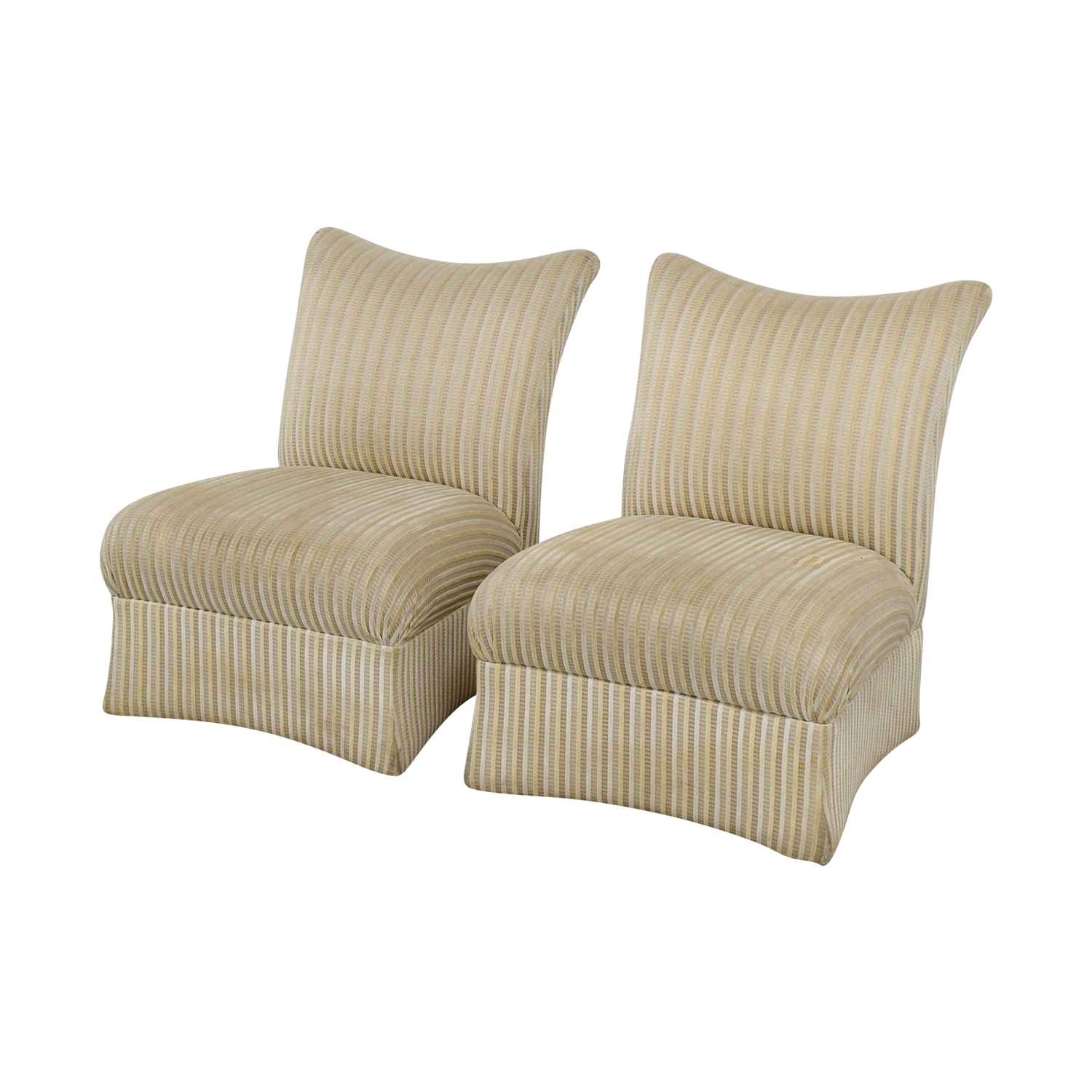 shop Ethan Allen Striped Accent Chairs Ethan Allen