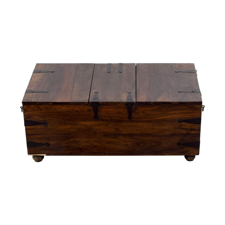70 Off Crate Barrel Crate Barrel Trunk Coffee Table Tables