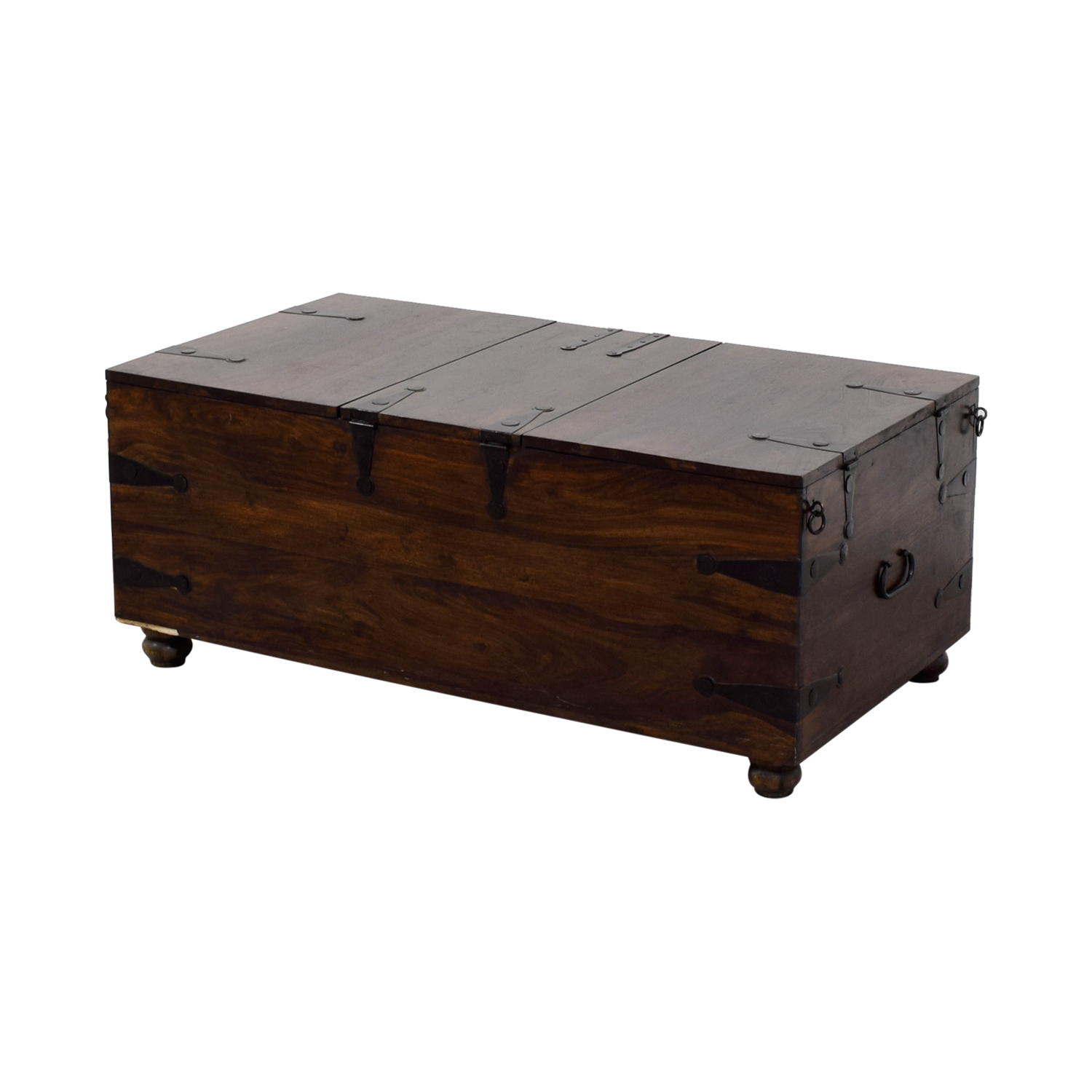 70 off crate barrel crate barrel trunk coffee table. Black Bedroom Furniture Sets. Home Design Ideas