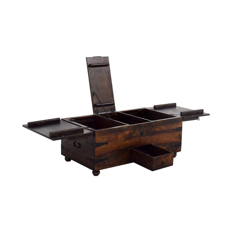 70 Off Crate Amp Barrel Crate Amp Barrel Trunk Coffee Table