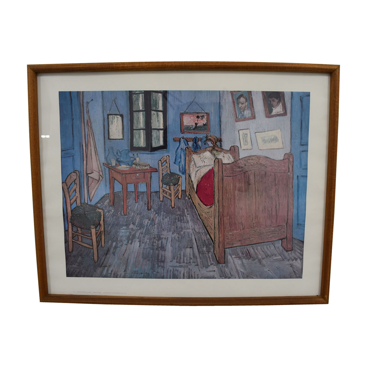 Framed Chicago Art Institute Van Gogh The Bedroom Print Chicago Art Institute