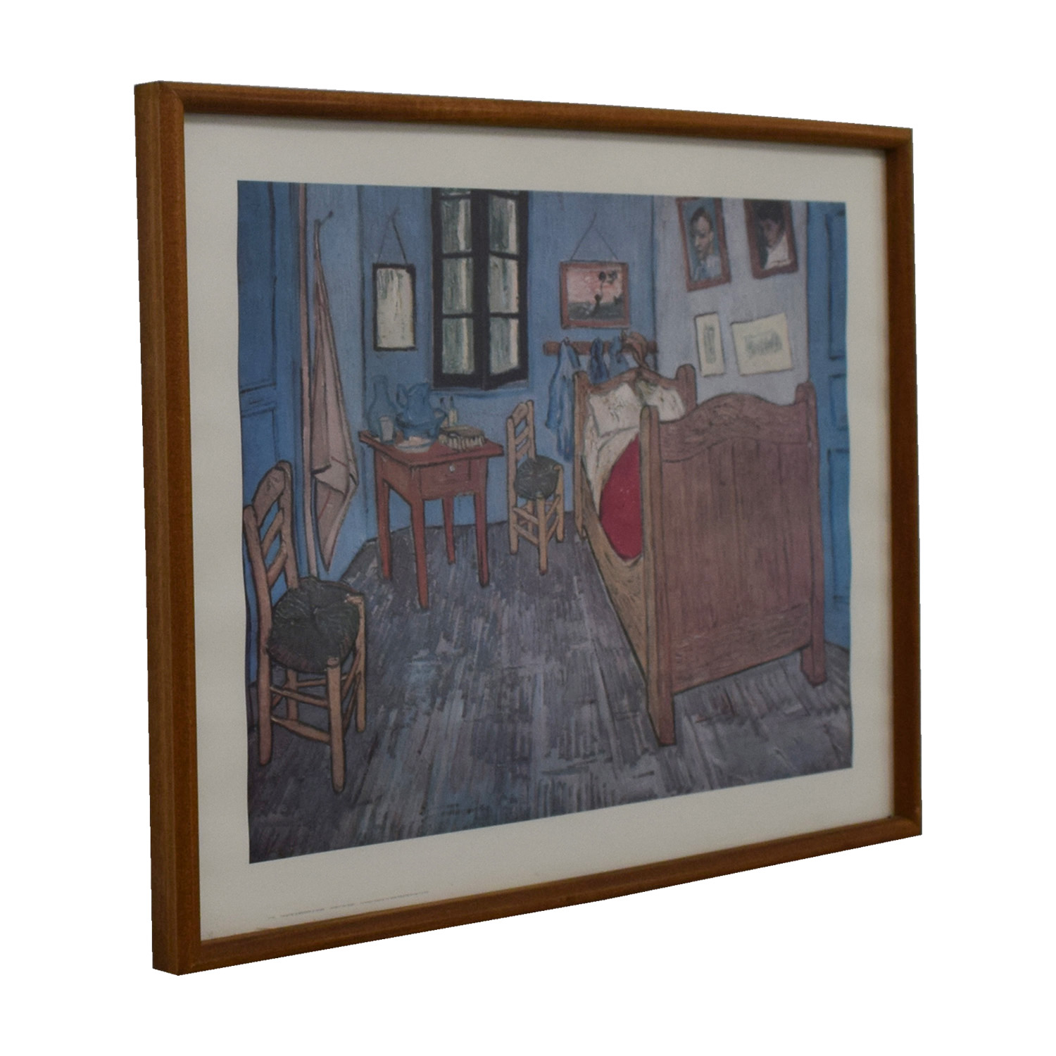 Chicago Art Institute Framed Chicago Art Institute Van Gogh The Bedroom Print second hand